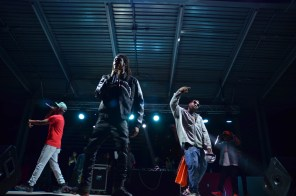 Yung Deuce, Yung Me and Mike Jones perform at the Homecoming concert. Deuce and Me are both signed under Jones' Ice Age Entertainment label. | Kathryn Lenihan/The Cougar