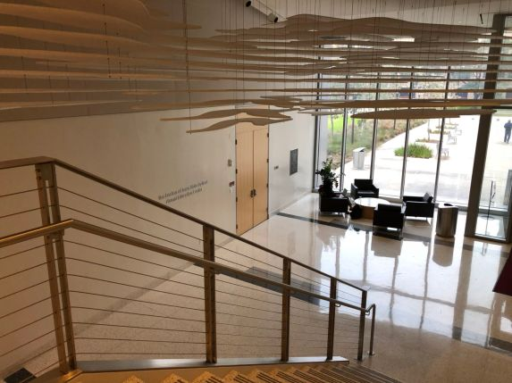 Inside the Health 1 Building on Calhoun Road, there are plenty of nooks and alcoves to sit down and get work done or relax and collect your thoughts. | Thomas Dwyer/The Cougar