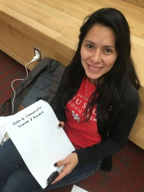 """Probably the one for my intro class for communication sciences and disorders,"" said Alejandra Martinez, a communication sciences and disorders sophomore. ""I have to talk about prevention, different disorders, the autism spectrum disorders, fluency disorders and what causes all that stuff."" 