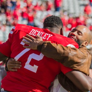 Houston's game against Navy was the last home game of the season, and the seniors were honored by the school and their families.   Richard Fletcher Jr./The Cougar
