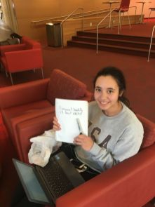 """""""I'm not freaking out yet, after the first test I think it will set in,"""" said political science freshman Lorena Ortiz. 