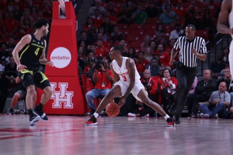 Against Oregon, junior Armoni Brooks was all over the floor. Brooks led the team with nine rebounds and 22 points. | Kathryn Lenihan/The Daily Cougar