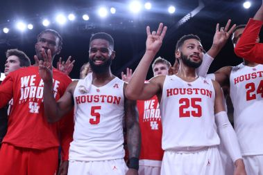 After the Oregon win and the first win in the Fertitta Center. | Kathryn Lenihan/The Daily Cougar