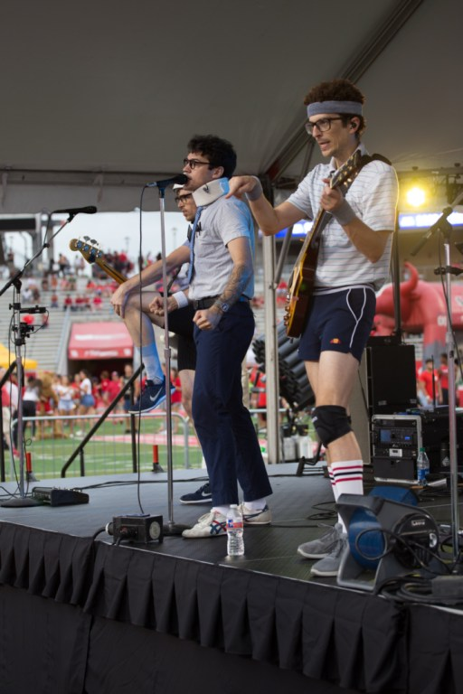 The Spazmatics kicked off the evening with throwback songs from the 80s. | Trevor Nolley/The Cougar
