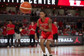 After being redshirted during the 2018-19 season, freshman Caleb Mills will join the Cougars full-time this upcoming season. | Trevor Nolley/The Cougar
