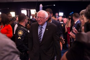 "Calling for a system ""that works for all of us, not 1 percent,"" Sen. Bernie Sanders said he would impose a tax on wall street speculation in order to fund his College for All plan. 