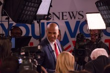 """It's right now,"" Sen Cory Booker said in regards to the effects of climate change. ""A community in Louisiana was already evacuated due to the effects of sea level rise."" 