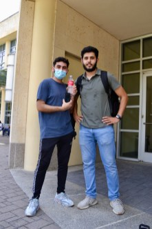 Sami Shahed and Omar Alkhoja, mechanical engineering seniors. | Haya Panjwani/The Cougar