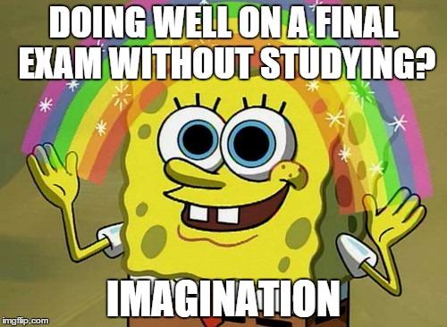 studying spongebob