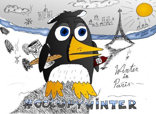 #occupywinter in paris editorial cartoon