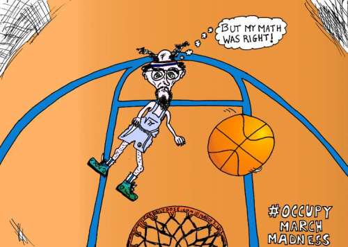 occupy march madness match cartoon