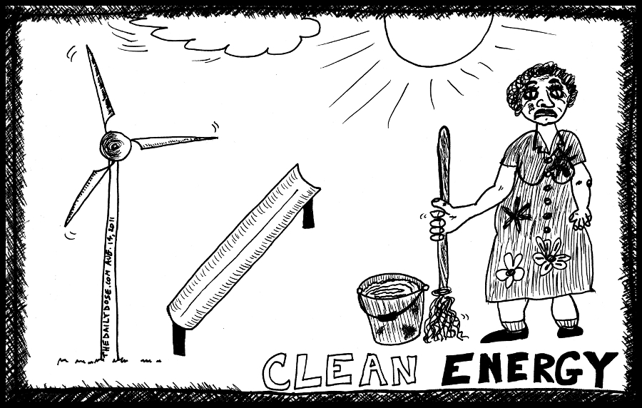 clean energy cartoon by laughzilla for the daily dose