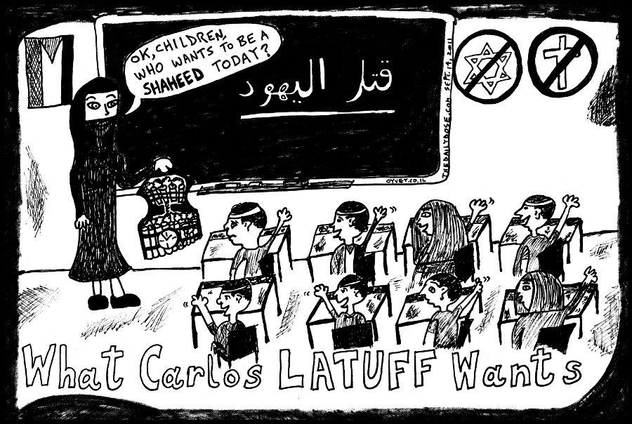 carlos latuff palestine dreams editorial cartoon political comic strip caricature by laughzilla for the daily dose