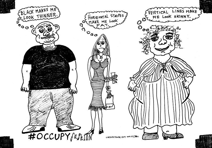 occupy fashion editorial cartoon by laughzilla for thedailydose.com