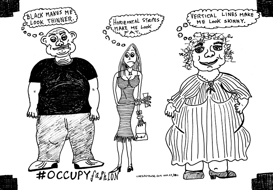 occupy fashion editorial cartoon by laughzilla for thedailydose.com