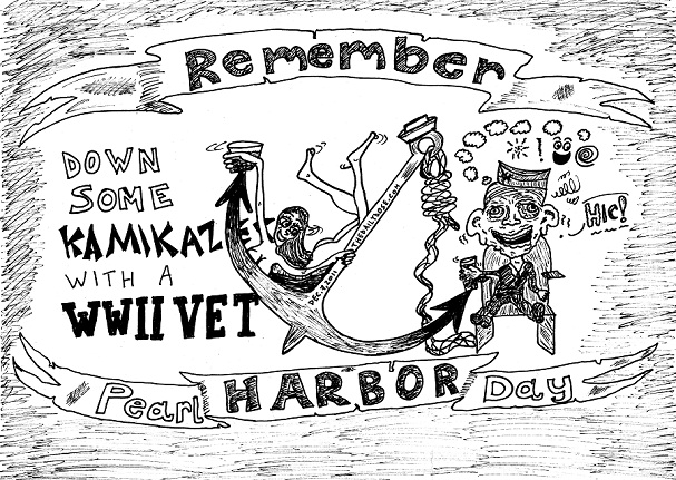 pearl harbor kamikaze cartoon by laughzilla for the daily dose