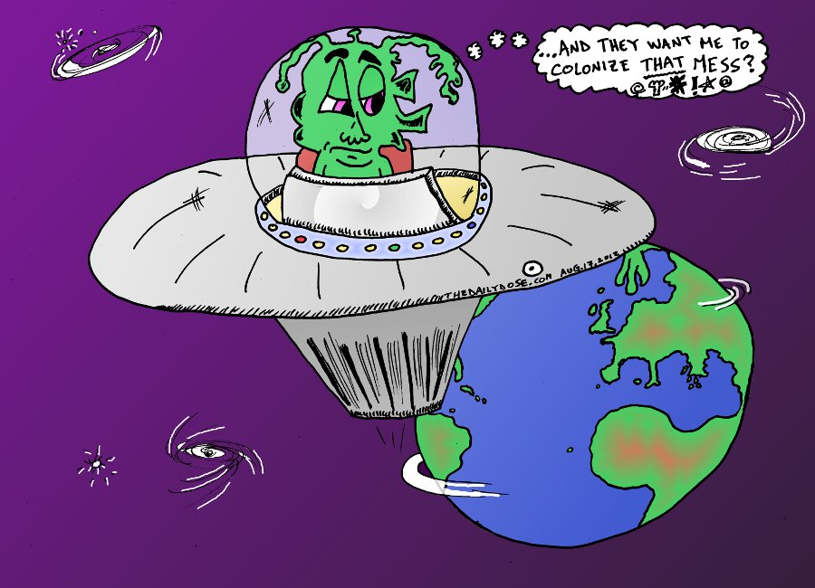 Colonize Earth Cartoon