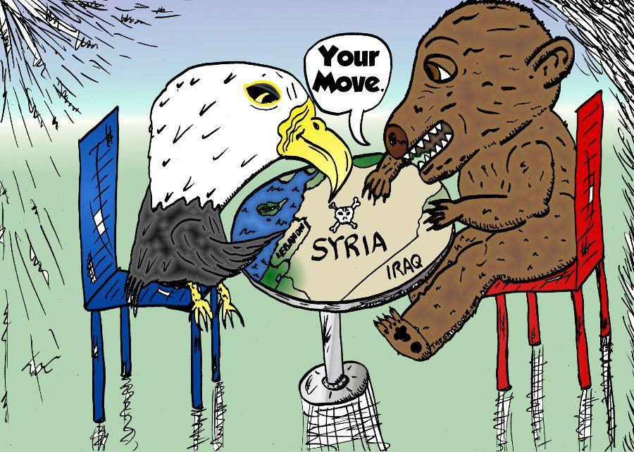 Editorial Caricature America Russia Use Syria
