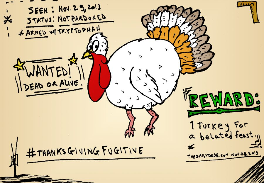 Thanksgiving fugitive and jokes for the turkey day feast