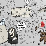 hamas wins again political cartoon by laughzilla 2014-07-27