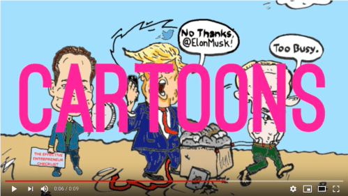 laughzilla draws the daily dose cartoons like this one of elon musk, donald trump and vladimir putin, for the fun. subscribe today and stop your laughless ways.