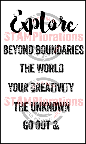 Stamplorations - Bold Sentiments Explore