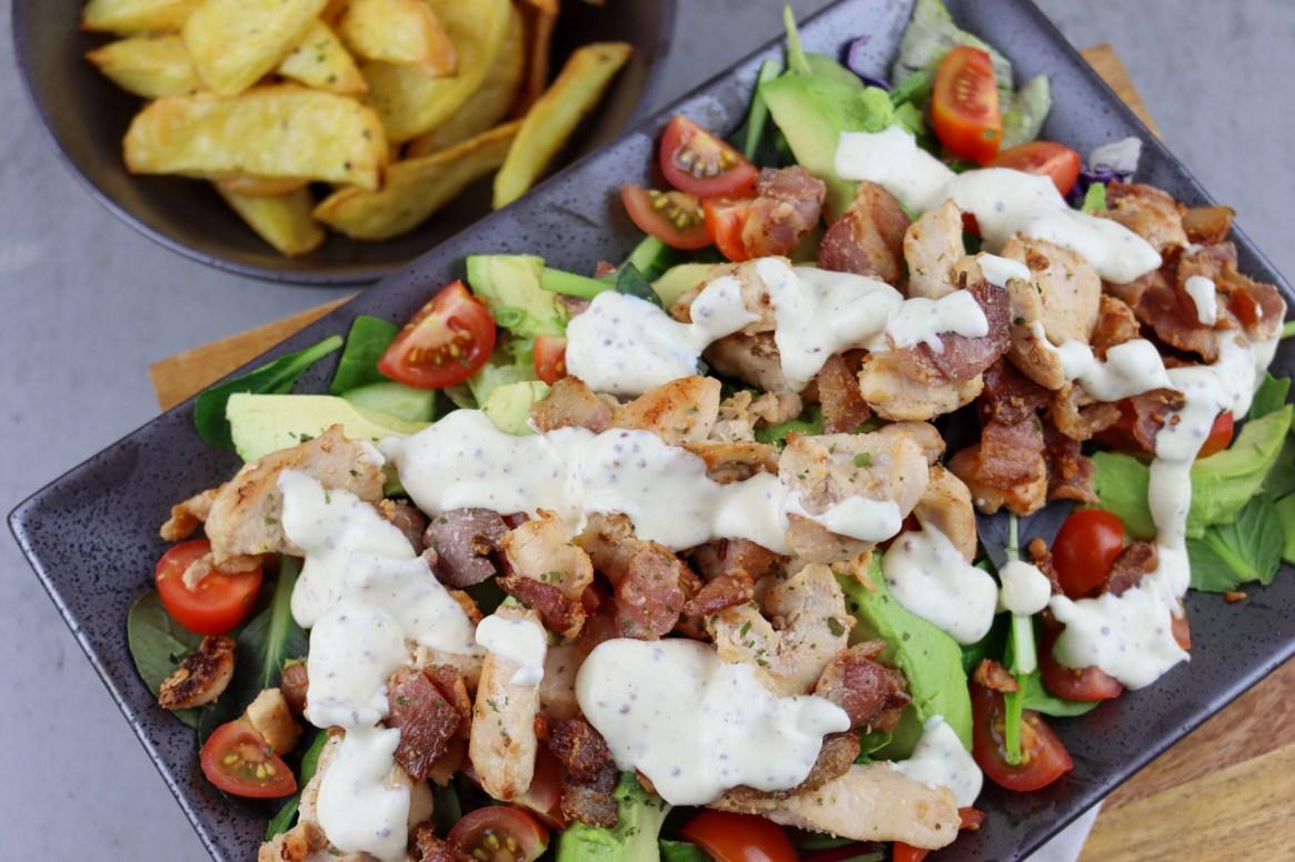 Honey Mustard Chicken & Bacon Salad