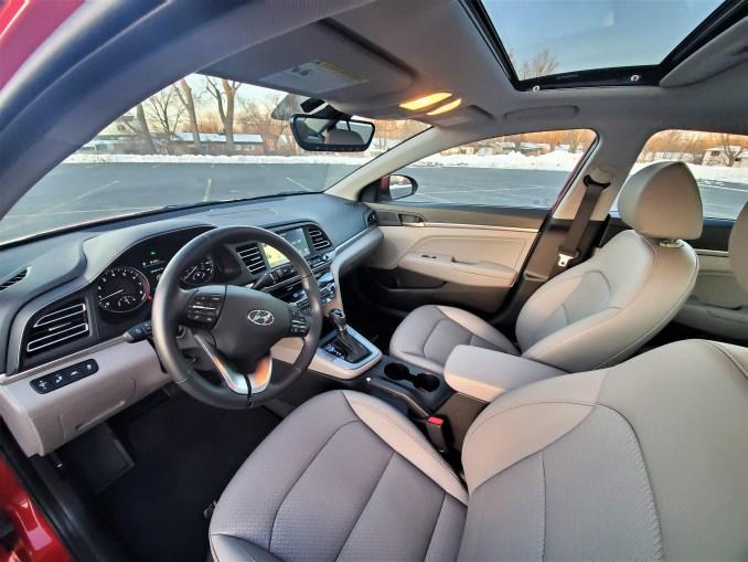 2020 Hyundai Elantra Interior Front