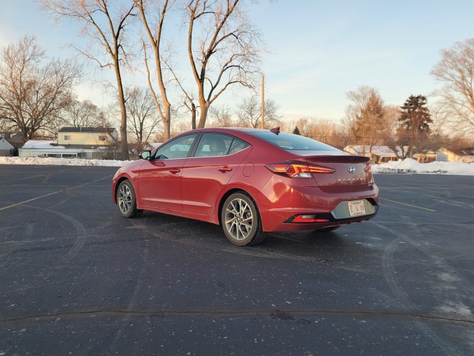 2020 Hyundai Elantra Red Left Rear