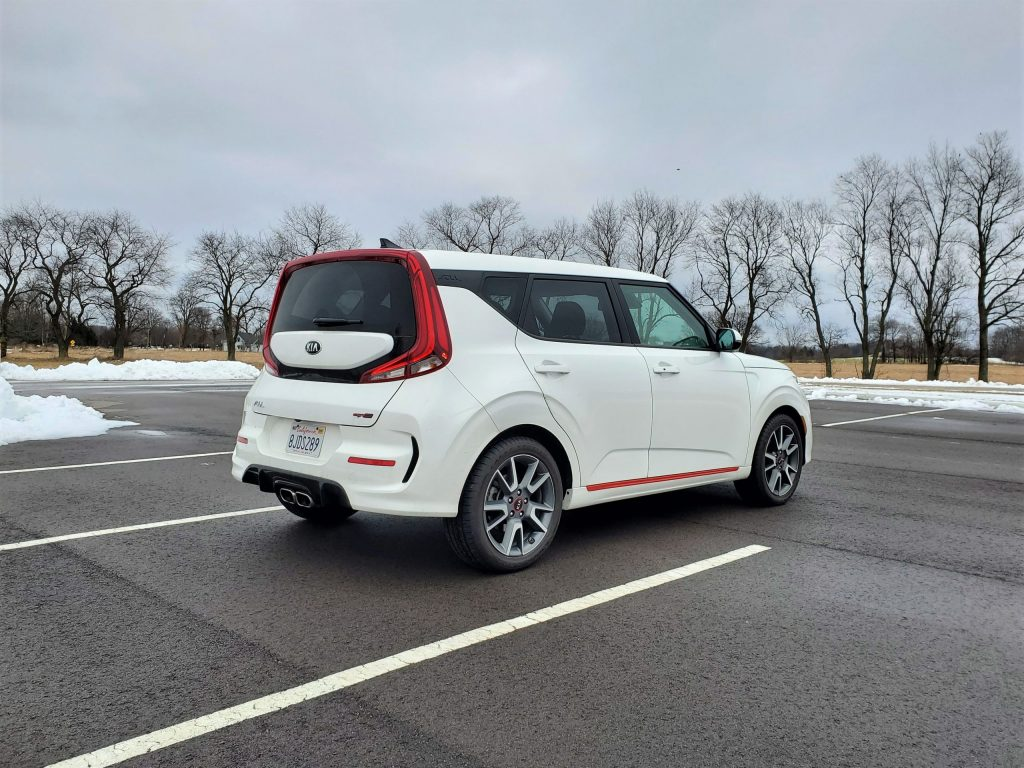 2020 Kia Soul GT-Line Turbo White Right Rear