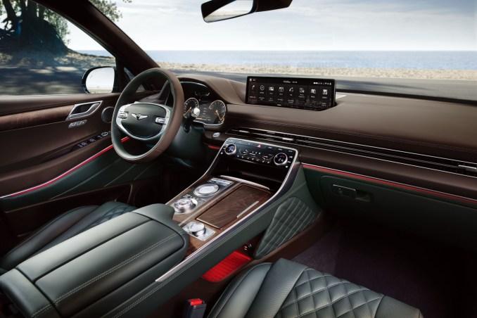 2021 Genesis GV80 Brown Front Row Interior