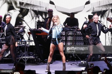 performs at the TommyLand Tommy Hilfiger Spring 2017 Fashion Show on February 8, 2017 in Venice, California.