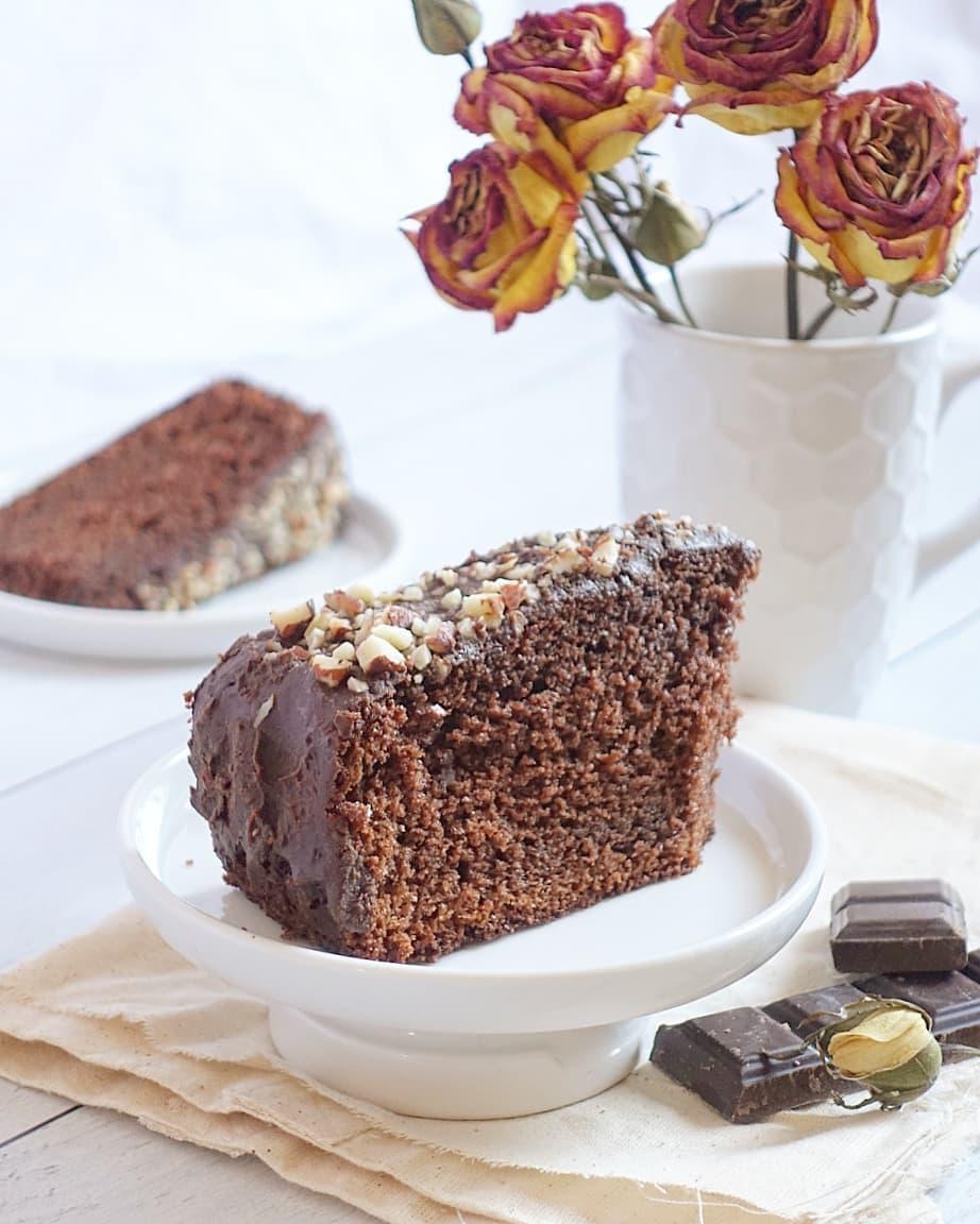Une part de gâteau au chocolat du dimanche