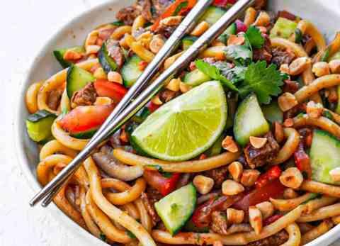 Salade thaï veggie