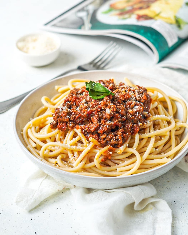Spaghetti bolognaise rapide végé