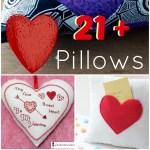 DIY Heart Pillow Tutorial Round Up