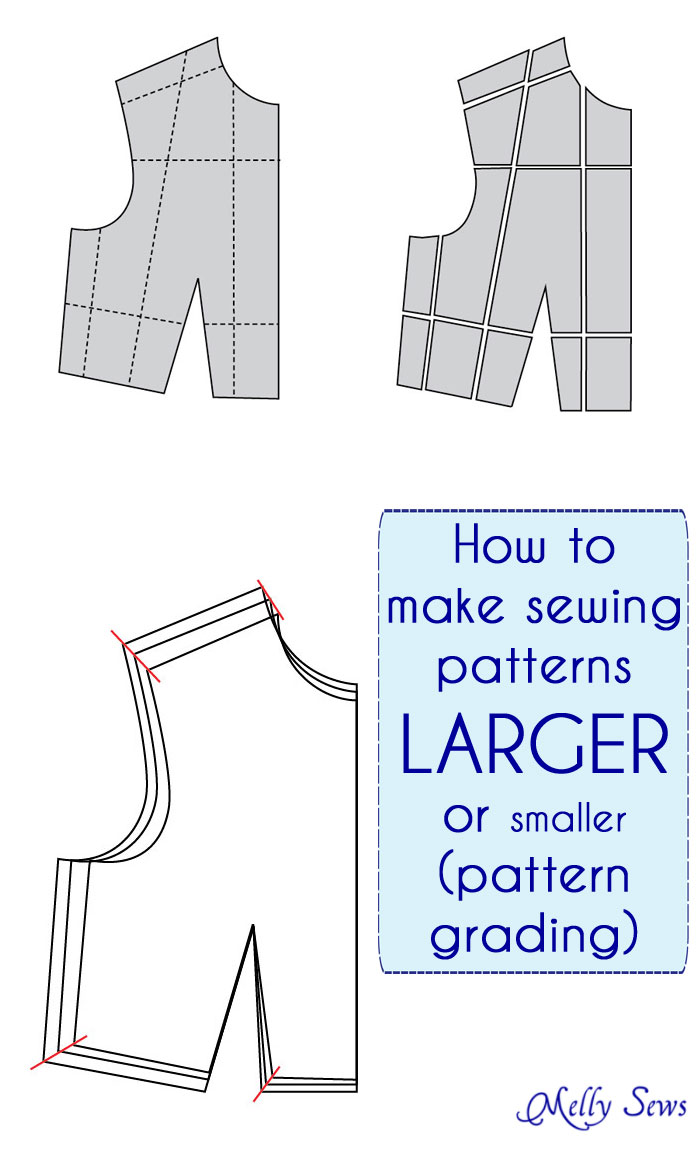 How to make sewing patterns bigger or smaller - pattern grading tutorial