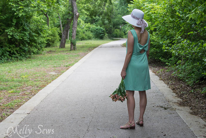 Bow Back Dress Tutorial from Melly Sews - thedailyseam.com