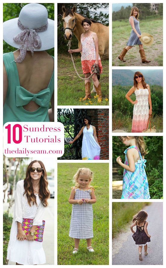 10 Sundress Tutorials - The Daily Seam - patterns and tutorials for girls and women