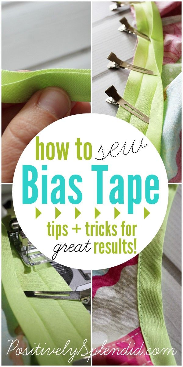 How to sew with bias tape