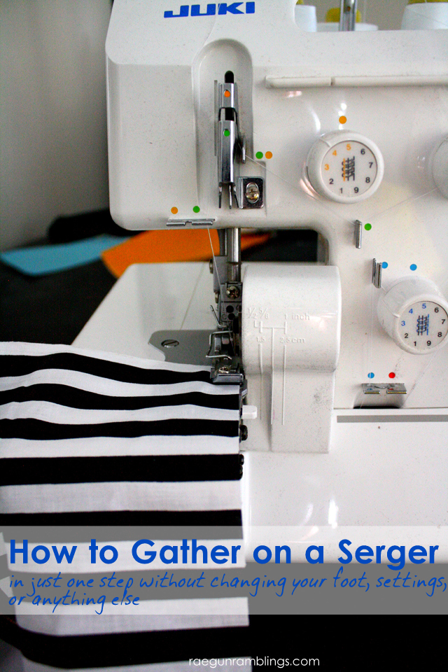 great trick for how to gather on the serger great for anyone who sews
