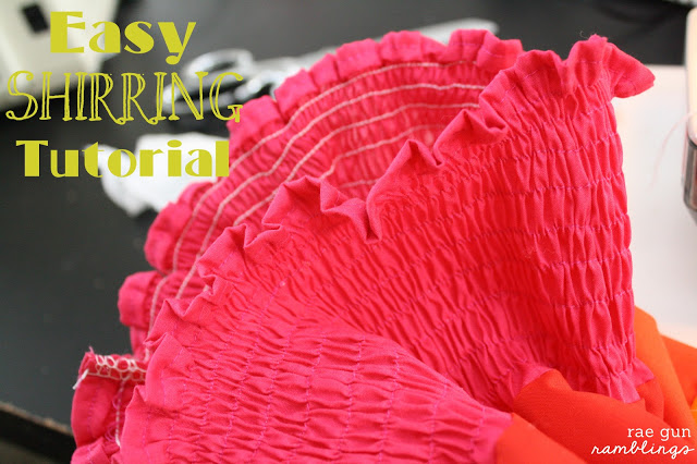 Learn how to sew with elastic thread. Great shirring tutorial