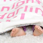 Night Night Darling Girl Baby Blanket