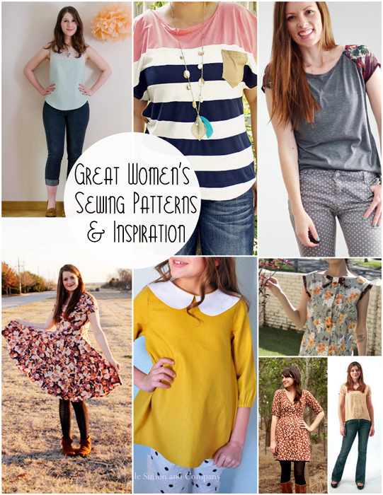 women sewing patterns and inspiration
