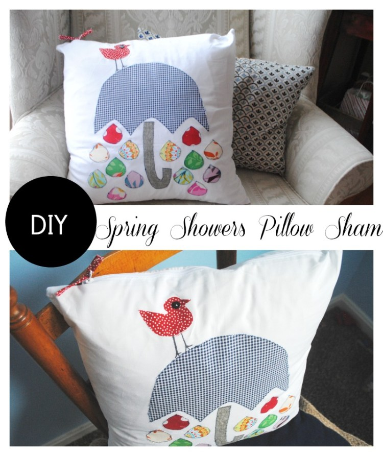 spring showers pillow tutorial