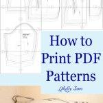 Printing PDF Sewing Patterns