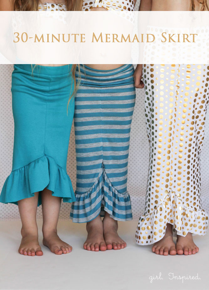 You can make one of these adorable mermaid skirts in just 30 minutes!