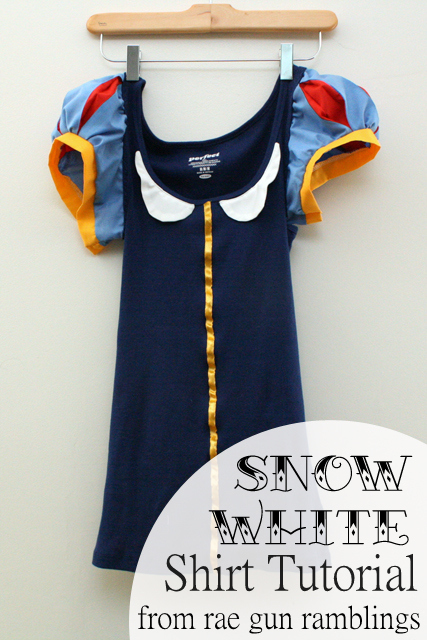Snow White shirt sewing tutorial