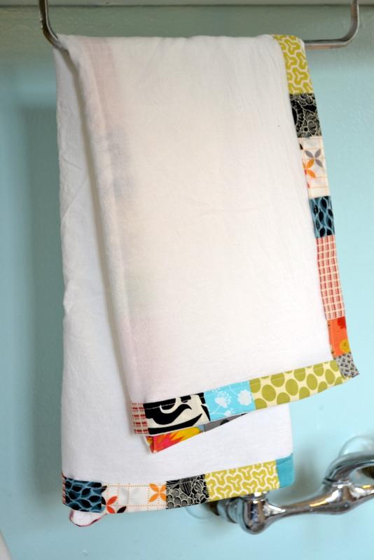 scrappy flour sack dish towels