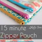 Sew a Zipper Pouch Tutorial